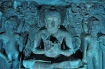 Ajanta Buddha in Blue