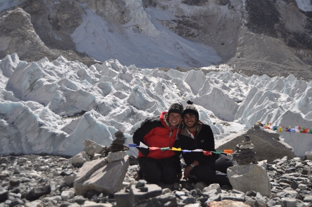 2 nomads at Everest Base Camp