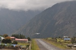 Plane takes off at Lukla Airport