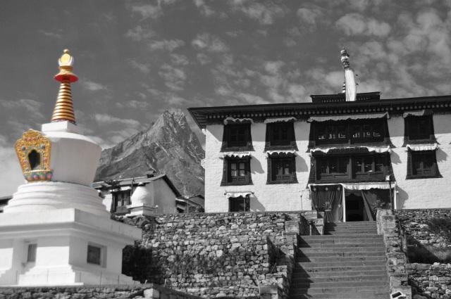 tengboche monastery (b&w)2