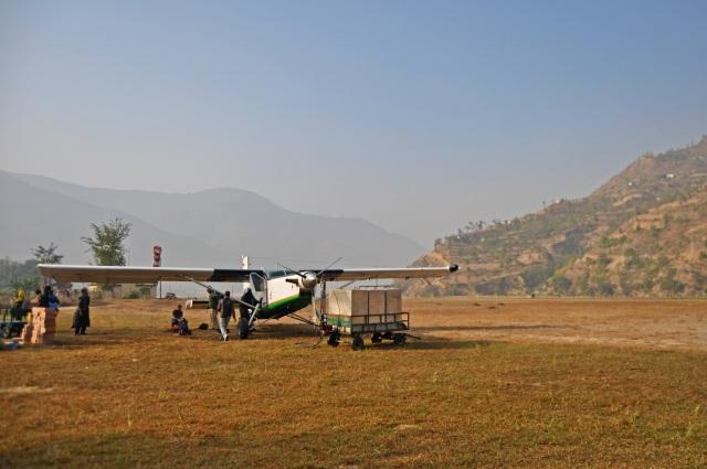 landing in ramechhap