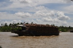 coconut boat mekong delta
