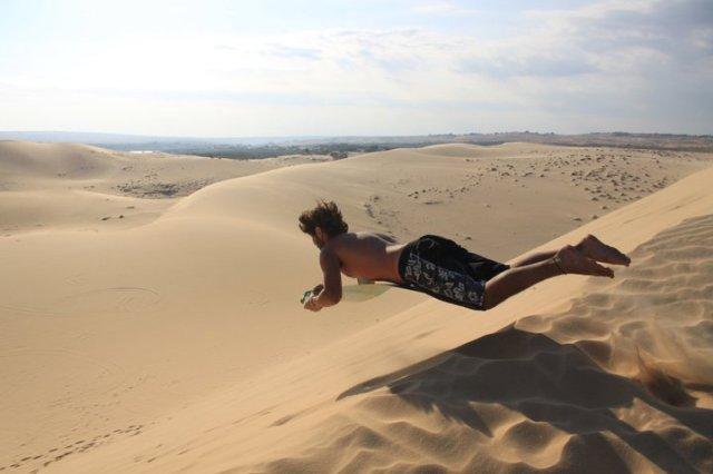 sand dune sledding